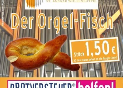 """Altstadtbäckerei Richter unterstützt mit """"Orgel-Fischen"""" die Ansgar-Orgel"""