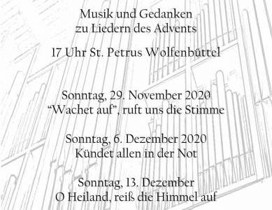 """""""Musik und Gedanken zu Liedern des Advents"""""""